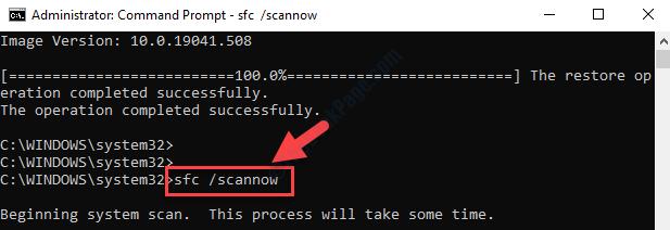 Command Prompt (admin) Run Sfc Scannow Command Enter
