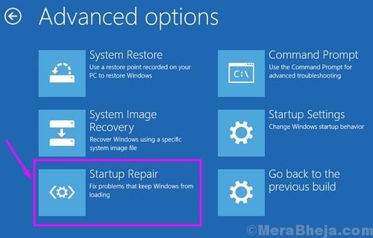 Reparación del inicio de la configuración de Windows