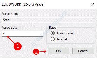 Cambio de valor del registro