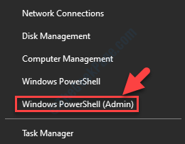 Inicie con el botón derecho del ratón Windows Powershell Admin