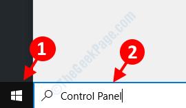 Panel de control de inicio de búsqueda del escritorio
