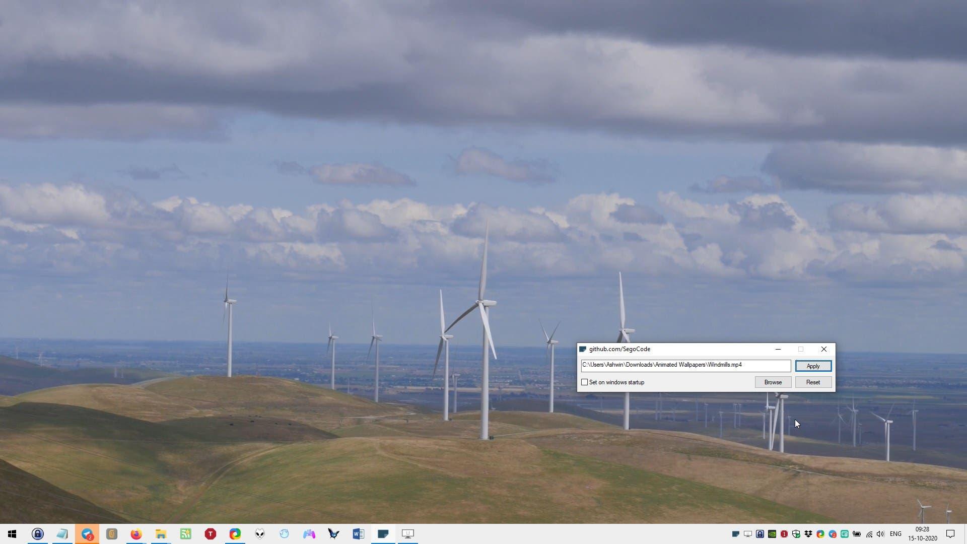fondo de pantalla del molino de viento autowall
