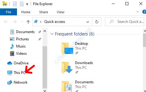 Explorador de archivos Win + E a la izquierda de esta PC