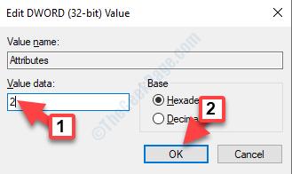 Editar Dword (32 Bit) Valor Valor Datos Canalización a 2 Ok