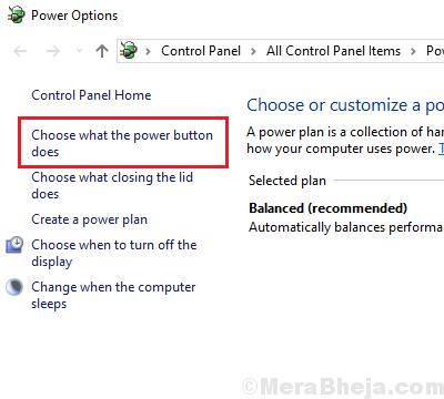 Elija lo que hace el botón de encendido