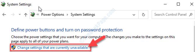 Cambiar las configuraciones que no están disponibles actualmente