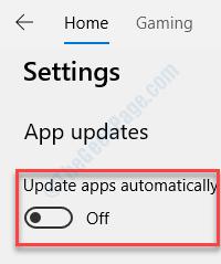 Actualizaciones automáticas desactivadas