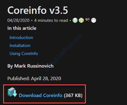 Coreinfo