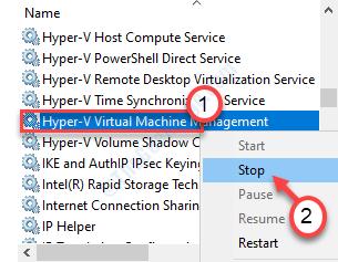 Detener el Hyper Vmm