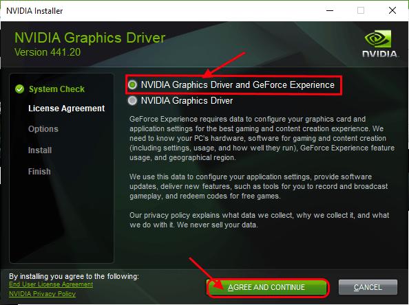 Experiencia de controlador Nvidia y Geforce