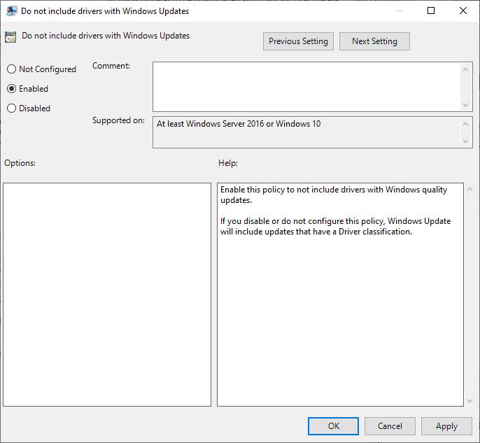no incluyen los controladores con las actualizaciones de Windows