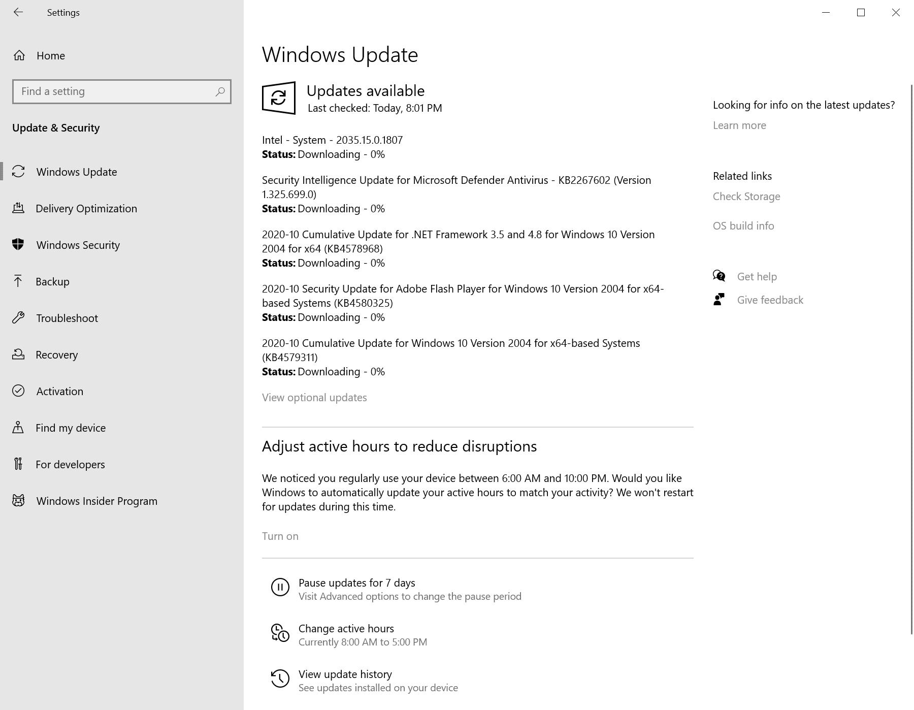 actualizaciones de seguridad de windows octubre de 2020