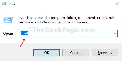 Presiona Win + R para abrir el cuadro de ejecución, escribe Cmd y presiona Enter