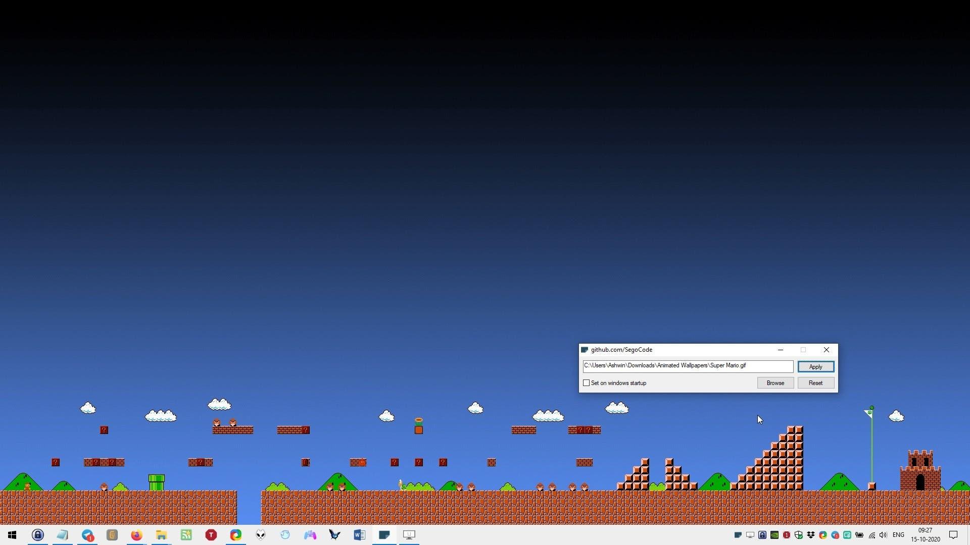 autowall mario fondo de pantalla
