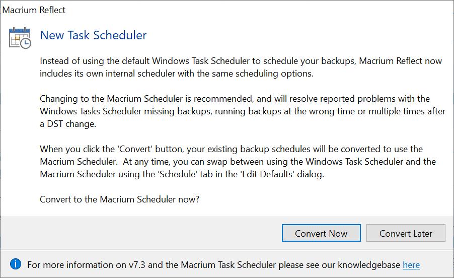 new task scheduler macrium