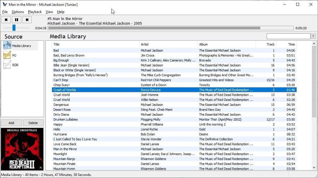 Tuniac is a freeware music player for Windows