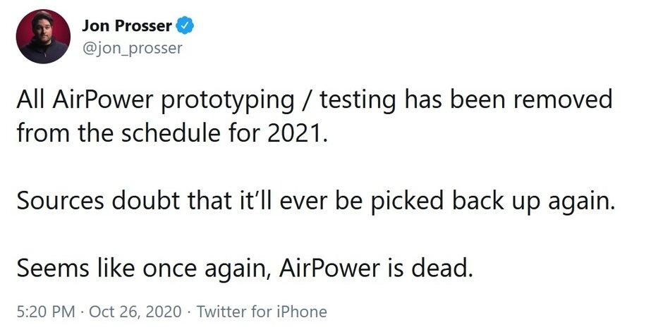 El informante de Twitter que una vez dijo que AirPower había resucitado, ahora dice que está muerto otra vez. Para el vaporware de Apple que más tiempo lleva funcionando, es una muerte tras otra