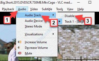 Desactivar la pista de audio Vlc