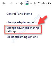 Centro de redes y recursos compartidos Cambiar la configuración de los recursos compartidos avanzados