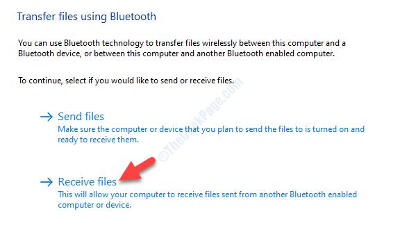 Transferir archivos usando Bluetooth Recibir archivos