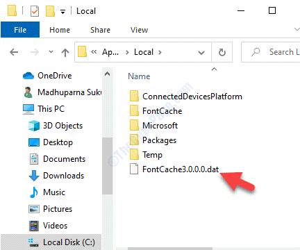 Explorador de archivos Navegar a la misma ruta Carpeta local Fontcache3.0.0.0.dat Eliminar