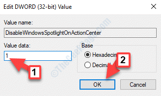 Editar Dword (32 Bit) Valor Valor Datos 1 Ok