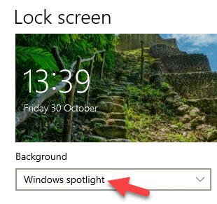 Bloquear el fondo de la pantalla Foco de las ventanas