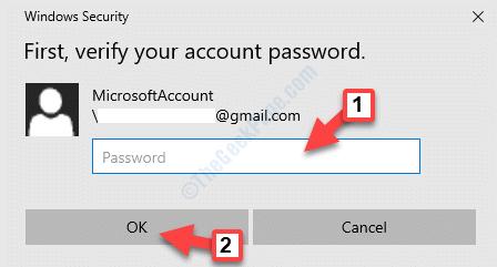 Ventana emergente de seguridad de Windows Escriba la contraseña Ok