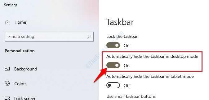 2 Ocultar la barra de tareas
