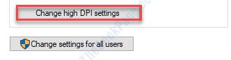 Cambiar la configuración de Dpi