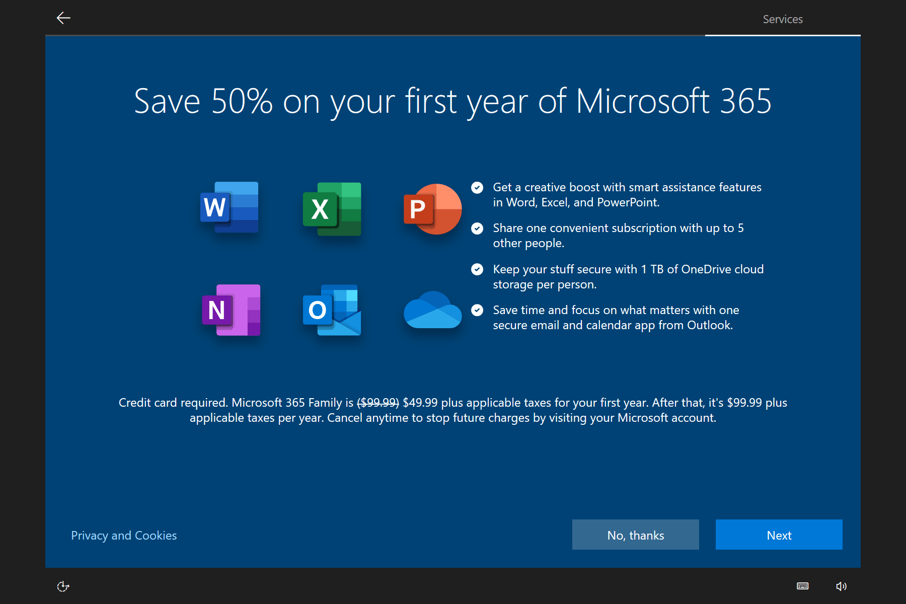 anuncio de microsoft 365