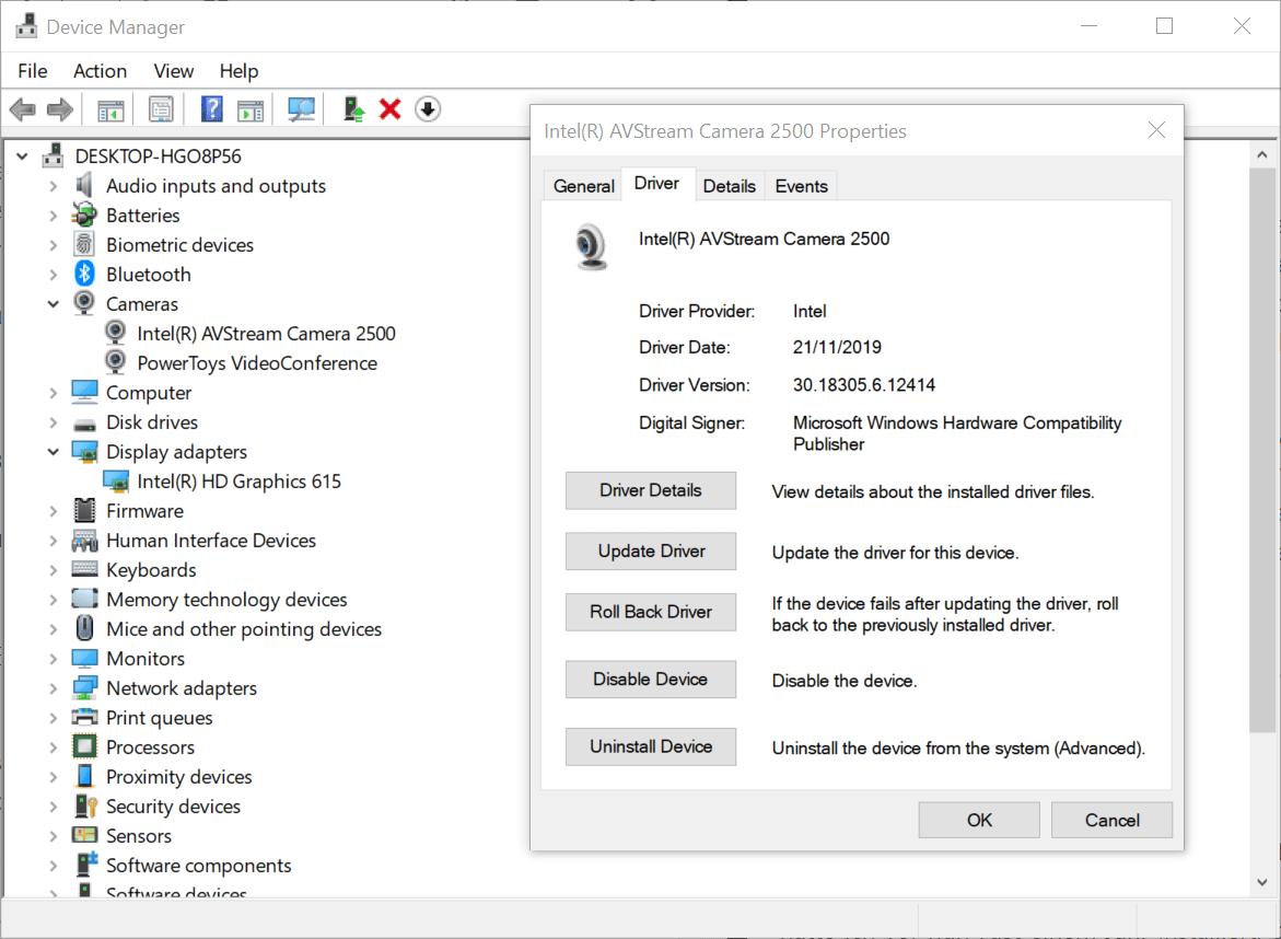 controlador de reversión de windows