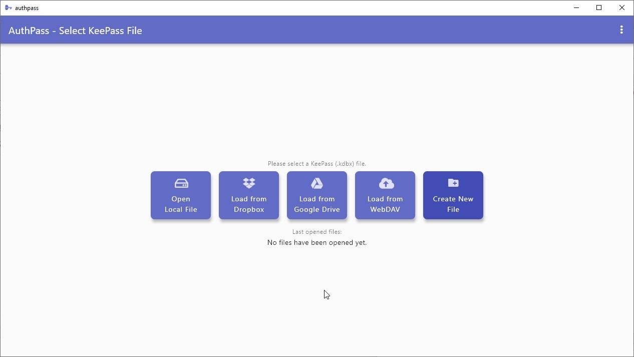 AuthPass elige la base de datos