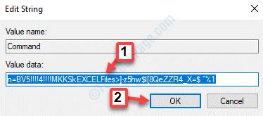 Cadena de comando Editar valor de cadena Datos Editar valor Ok