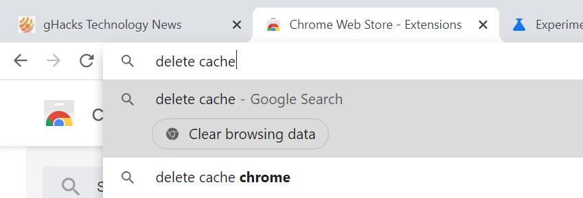 acciones de Chrome