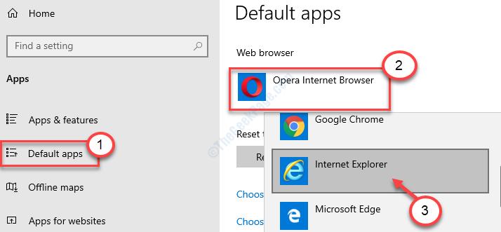 Navegador predeterminado a Internet Explorer
