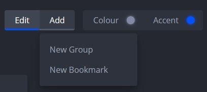 nightTab agrega un nuevo marcador o grupo