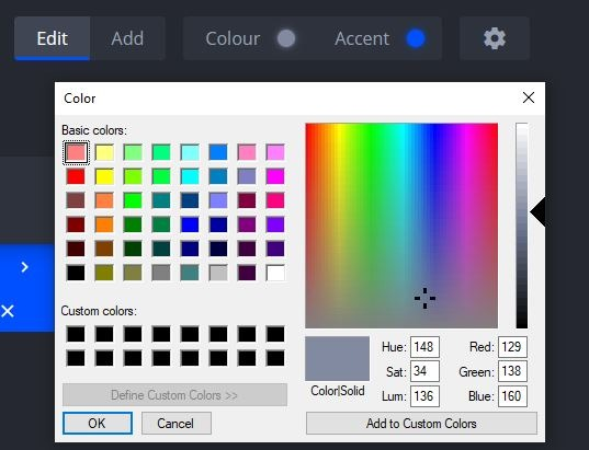 nightTab cambia el color y el acento