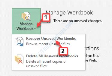 Información del menú Archivo Administrar libro de trabajo Recuperar libros de trabajo no guardados
