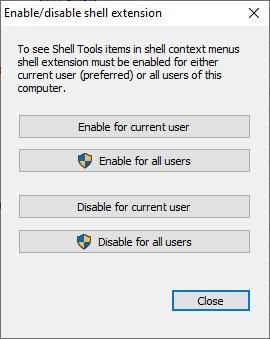 Habilitar herramientas de Shell