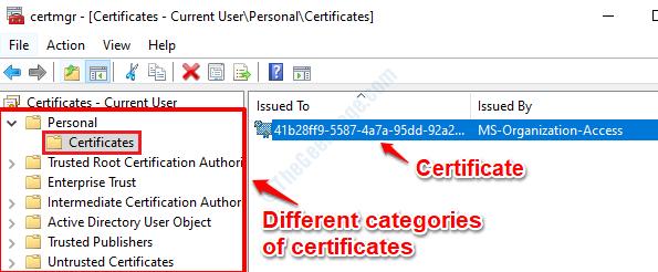 6 Certificados Certmgr