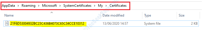 14 Certificados de Appdata
