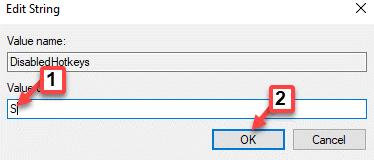 Editar datos de valor de cadena S Ok