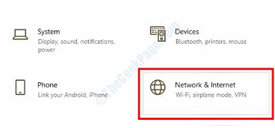 Configuración de red de Internet