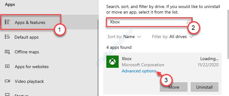 Opciones avanzadas de Xbox Mín.