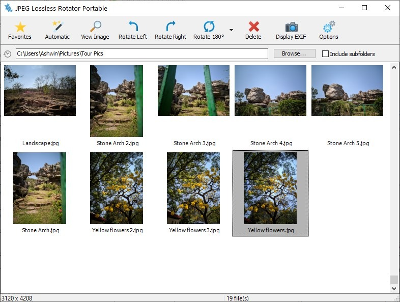 JPEG Lossless Rotator is a simple tool that you can use to rotate images without losing the original quality