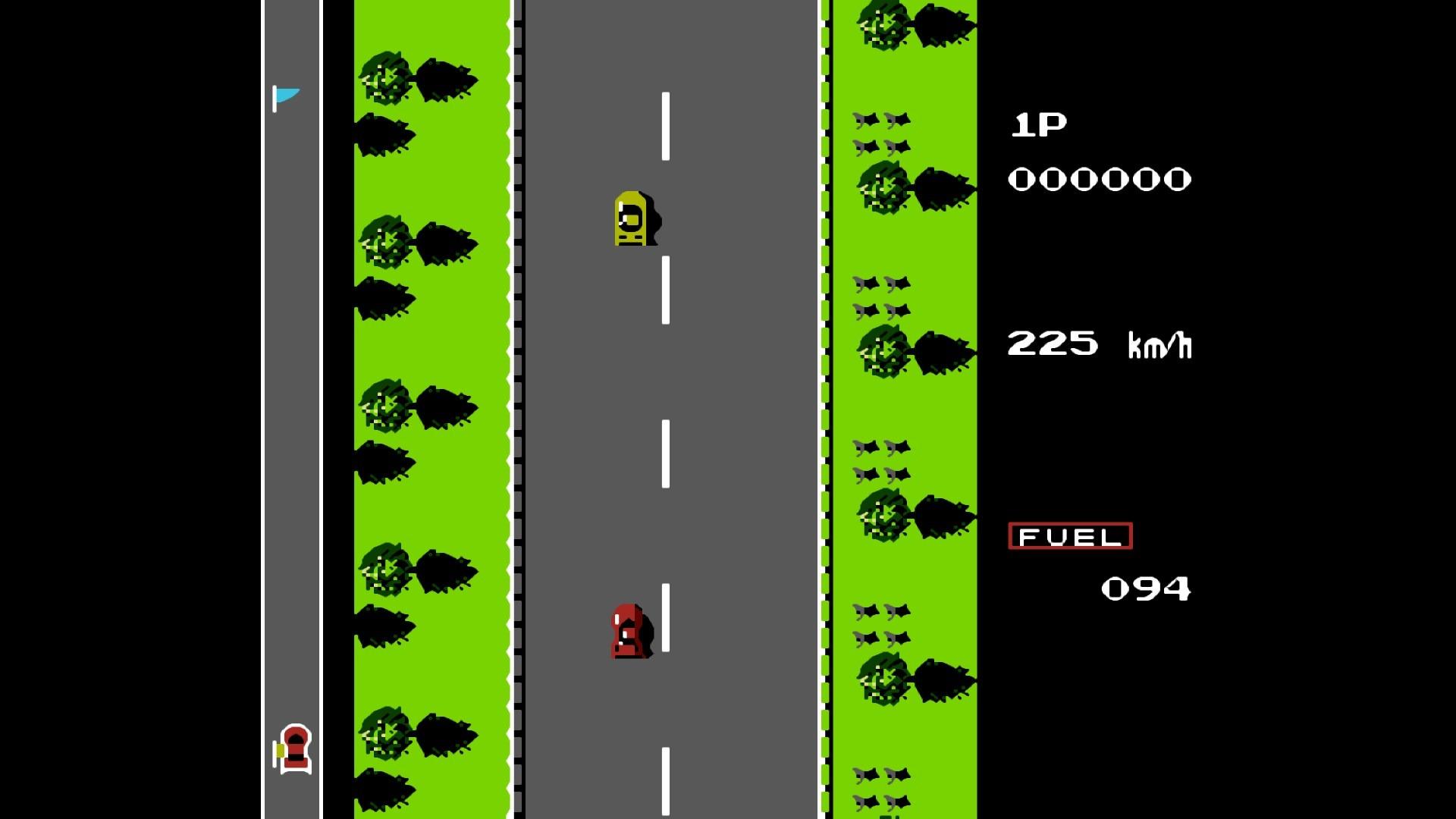 PuNES modo de pantalla completa Road Fighter