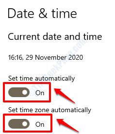 2 Configurar fecha y hora automáticamente