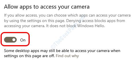 11 Permitir cámara de aplicaciones