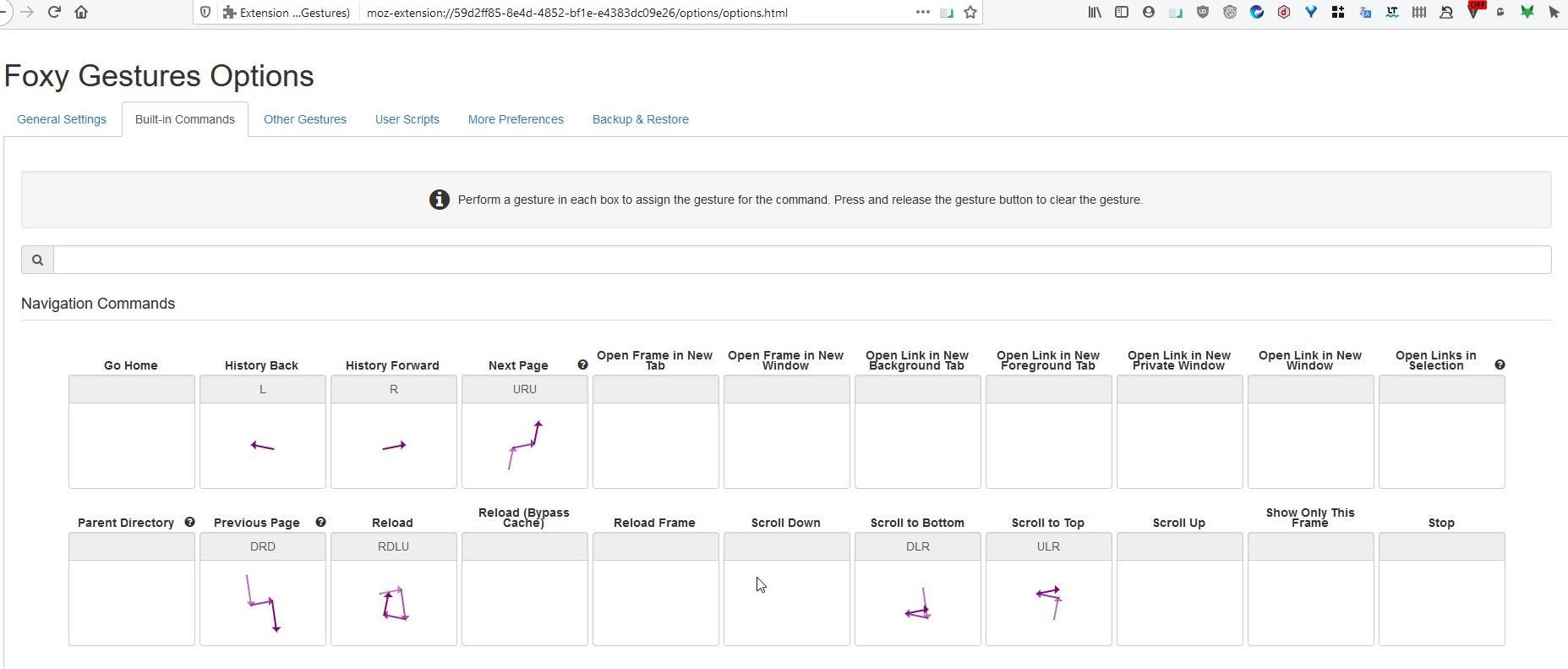 Administre pestañas y navegue por las páginas con el mouse usando la extensión Foxy Gestures para Firefox
